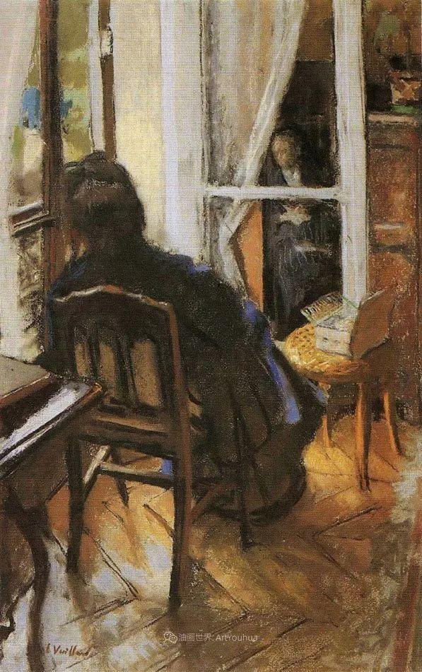 内景主义创始人,法国画家爱德华·维亚尔插图153