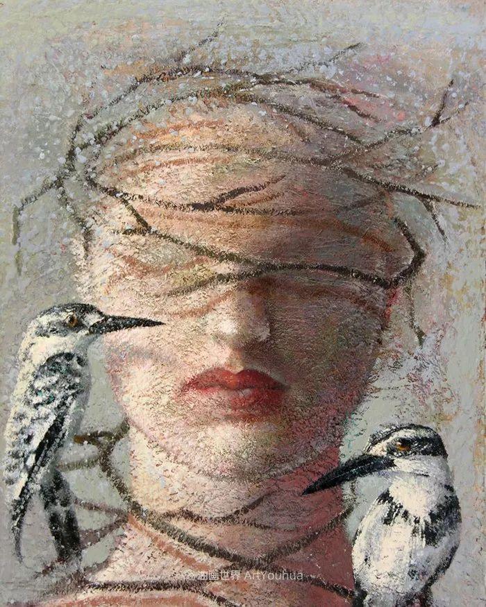 致力于形象表现的具象画家,幽灵般的人物肖像插图81