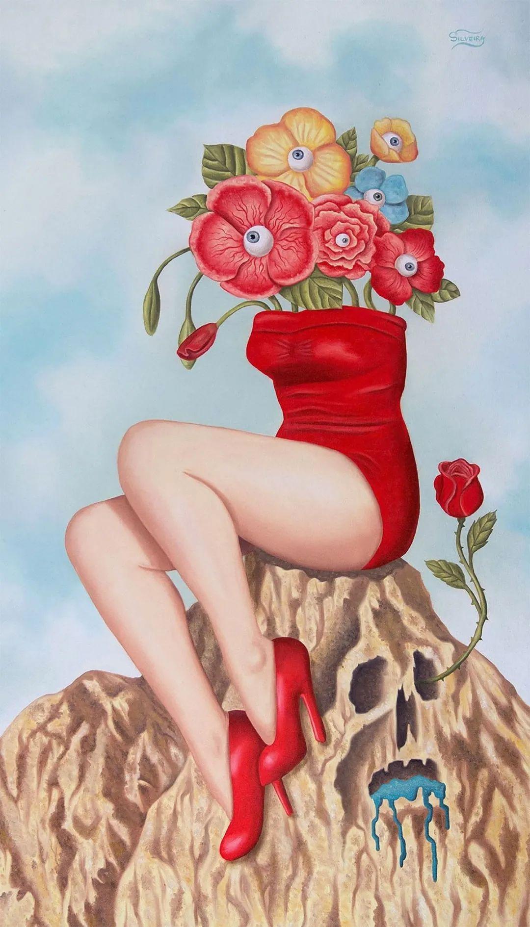 超凡的想象力,Rafael Silveira超现实主义肖像插画插图3