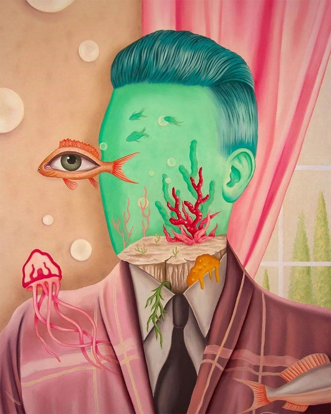 超凡的想象力,Rafael Silveira超现实主义肖像插画插图5