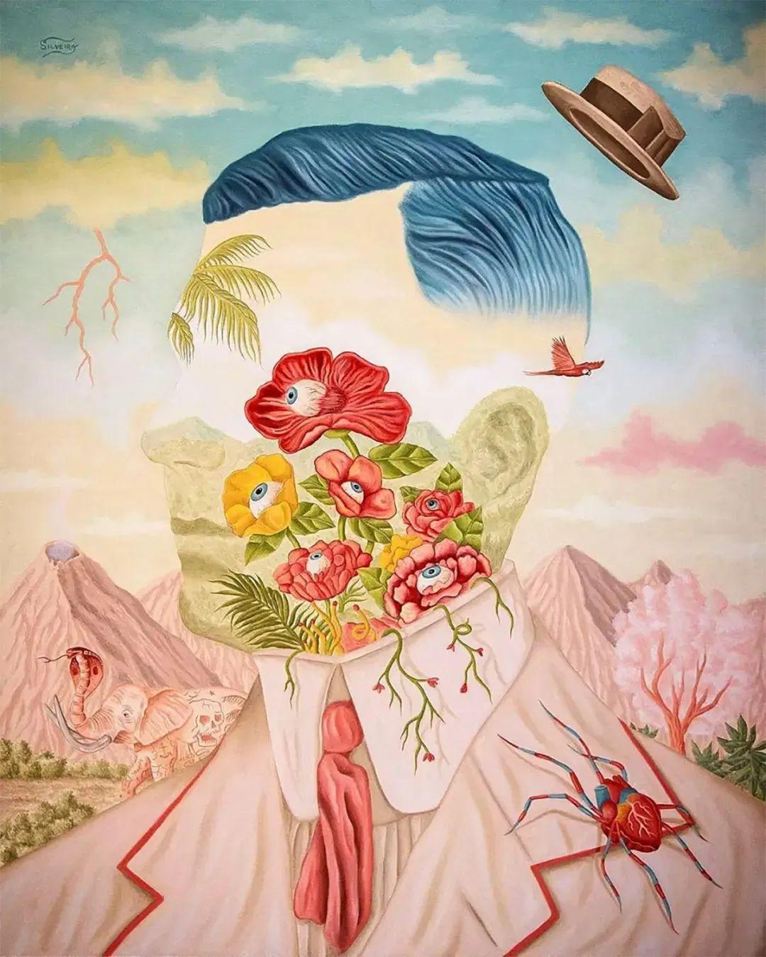 超凡的想象力,Rafael Silveira超现实主义肖像插画插图19