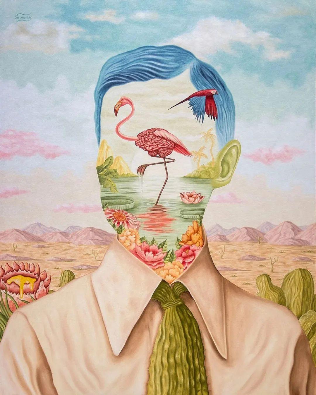 超凡的想象力,Rafael Silveira超现实主义肖像插画插图21
