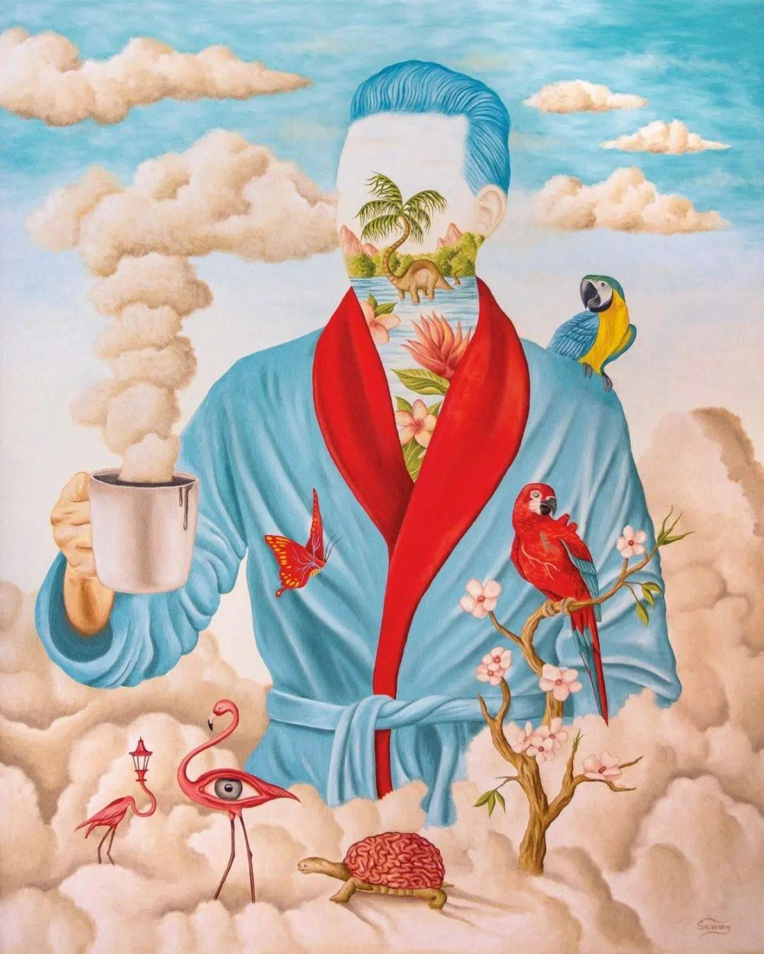 超凡的想象力,Rafael Silveira超现实主义肖像插画插图25