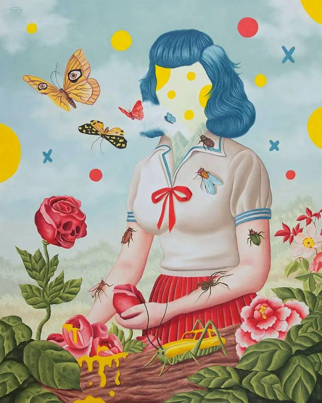 超凡的想象力,Rafael Silveira超现实主义肖像插画插图27