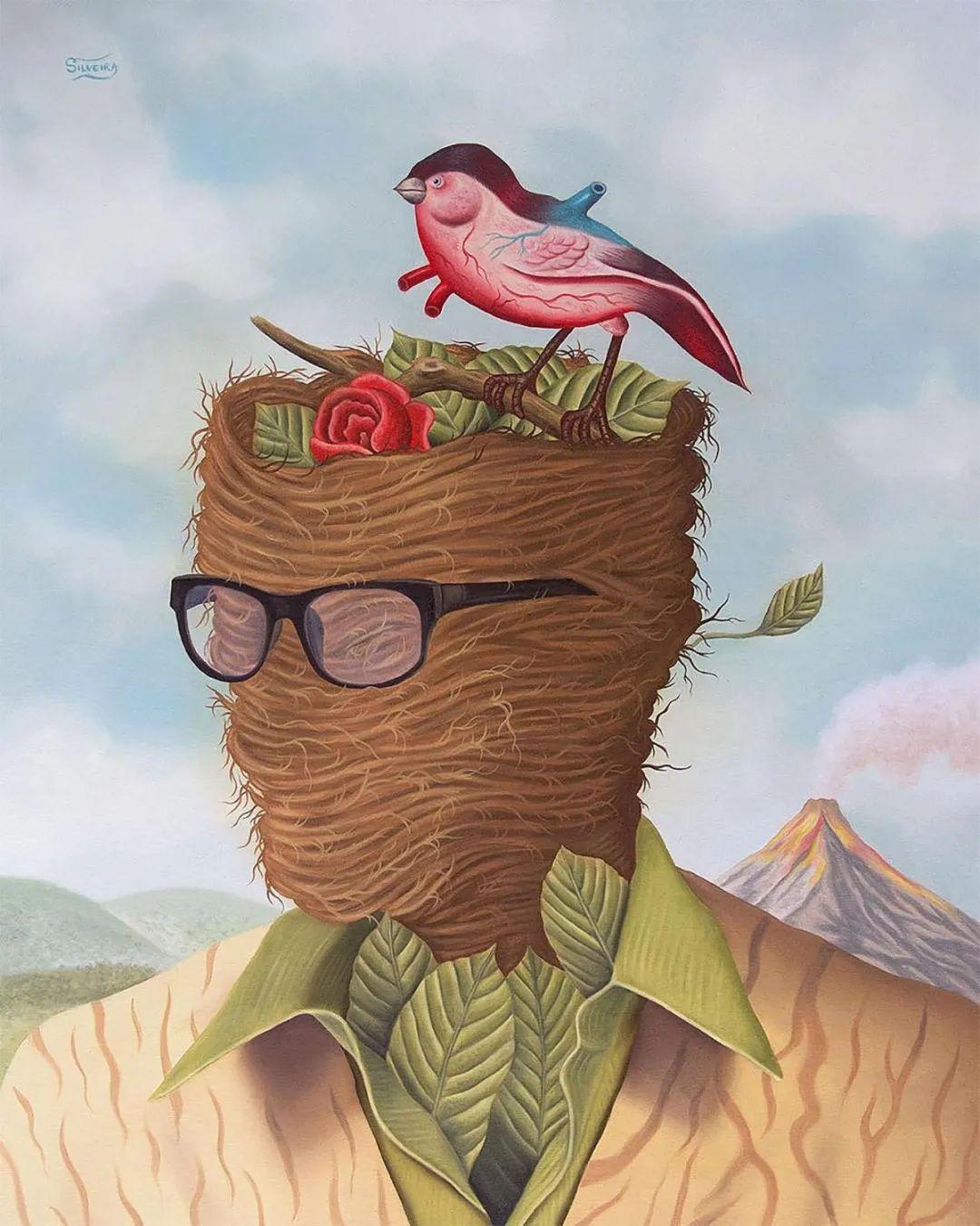 超凡的想象力,Rafael Silveira超现实主义肖像插画插图29