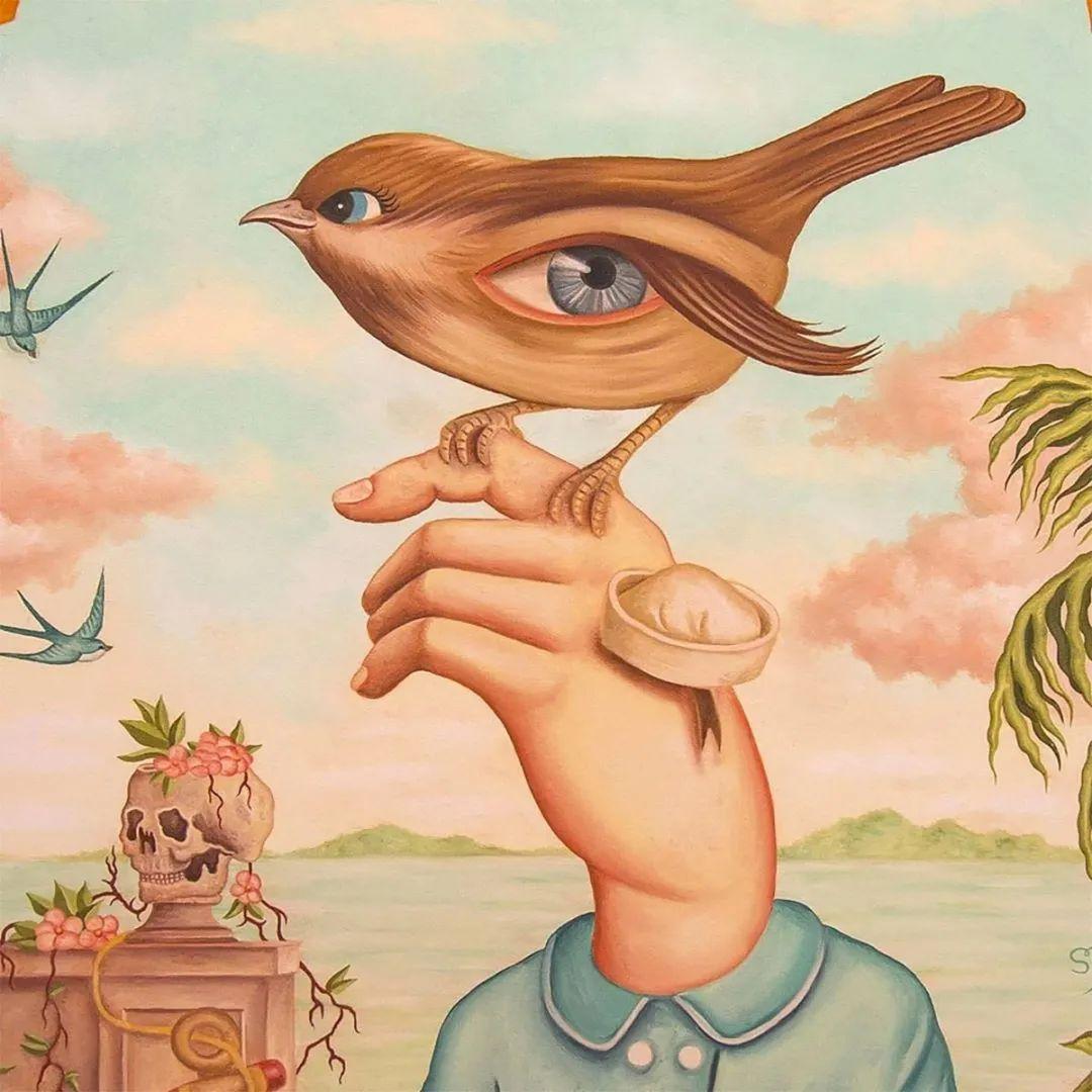 超凡的想象力,Rafael Silveira超现实主义肖像插画插图31