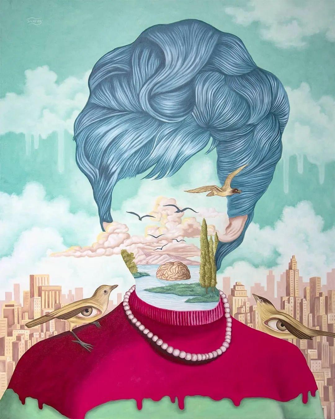 超凡的想象力,Rafael Silveira超现实主义肖像插画插图35