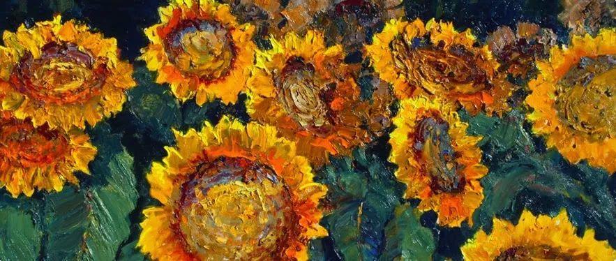 一位老爷爷笔下色彩浓烈、笔触厚重、风格简约的花卉与风景作品!插图17