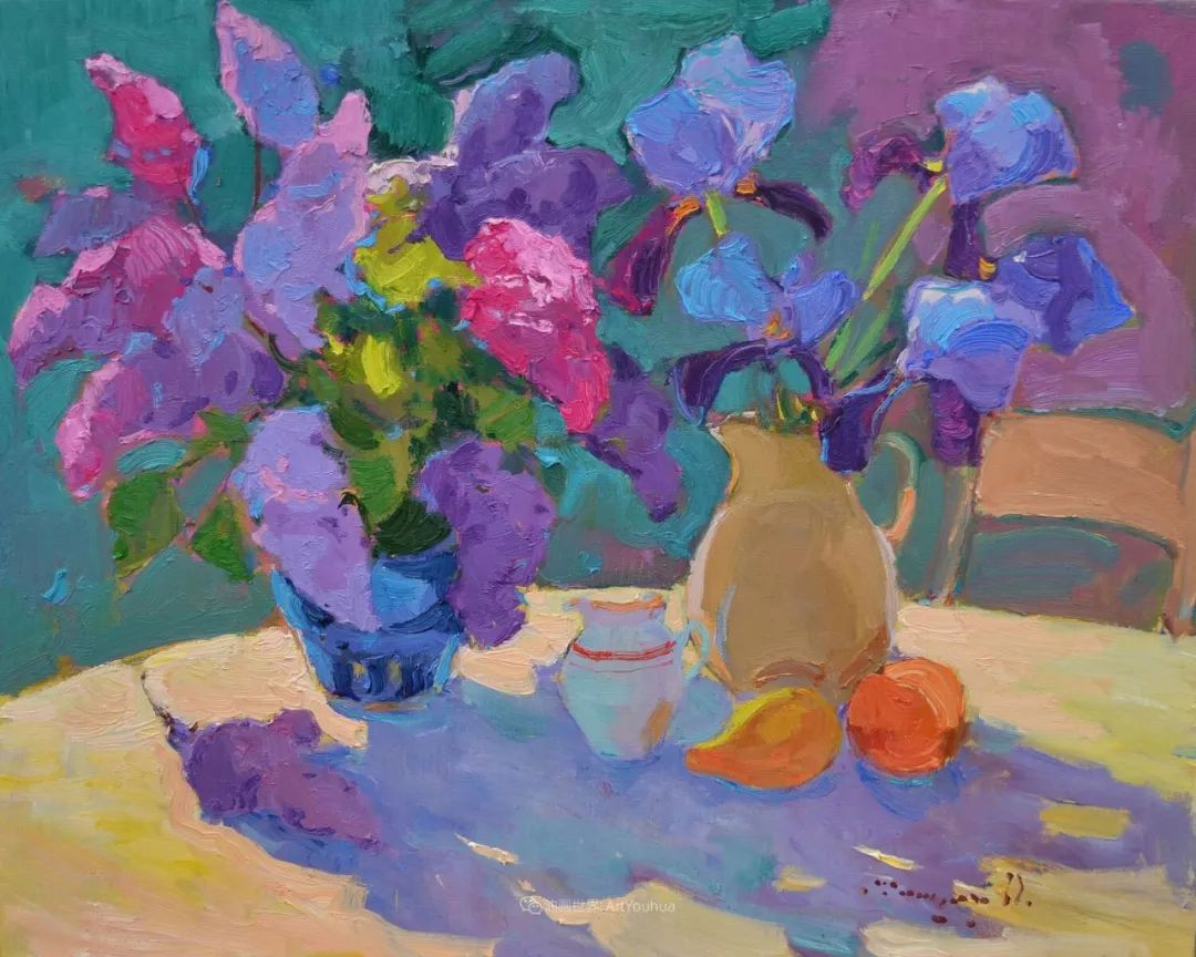 冷暖的色彩碰撞,迷人的静物与花卉作品!插图3