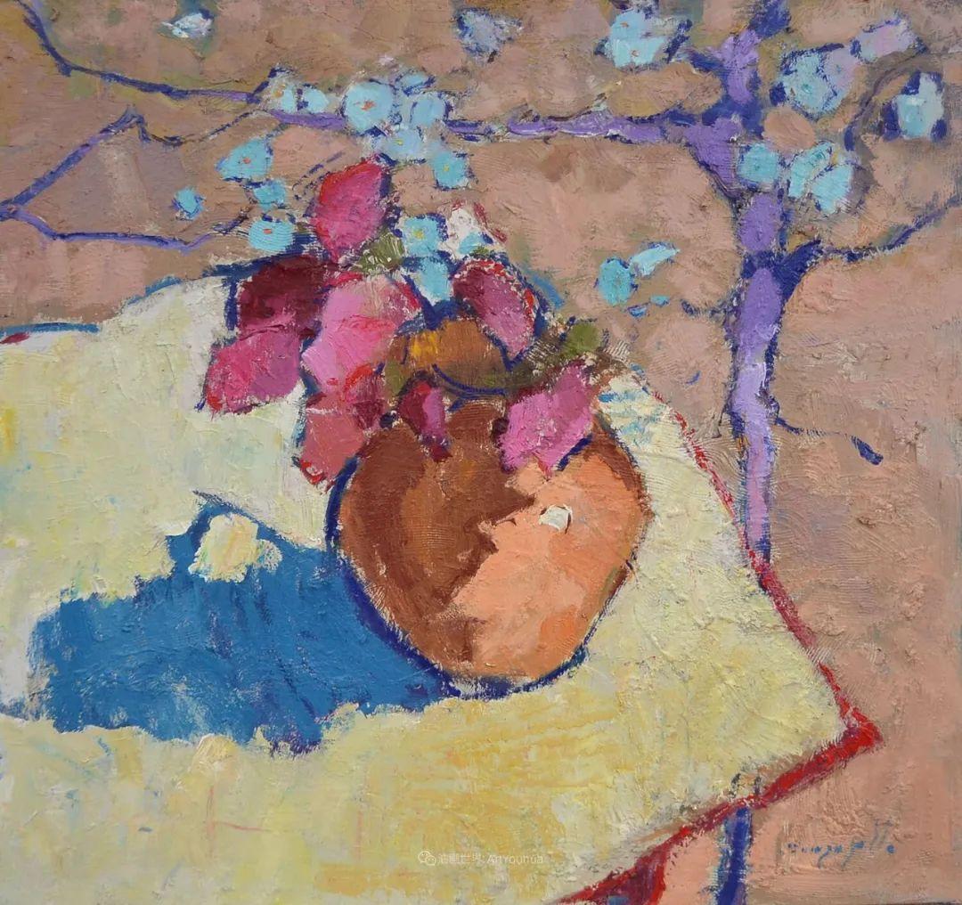 冷暖的色彩碰撞,迷人的静物与花卉作品!插图9