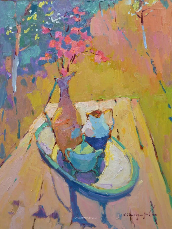 冷暖的色彩碰撞,迷人的静物与花卉作品!插图13