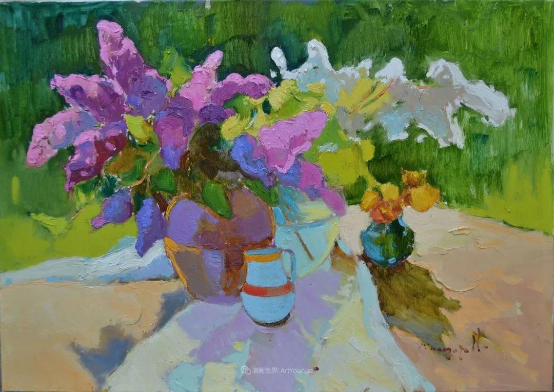 冷暖的色彩碰撞,迷人的静物与花卉作品!插图19