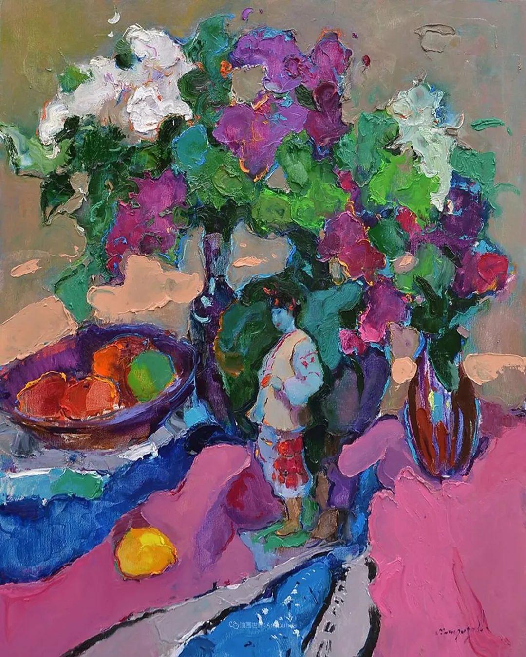 冷暖的色彩碰撞,迷人的静物与花卉作品!插图25