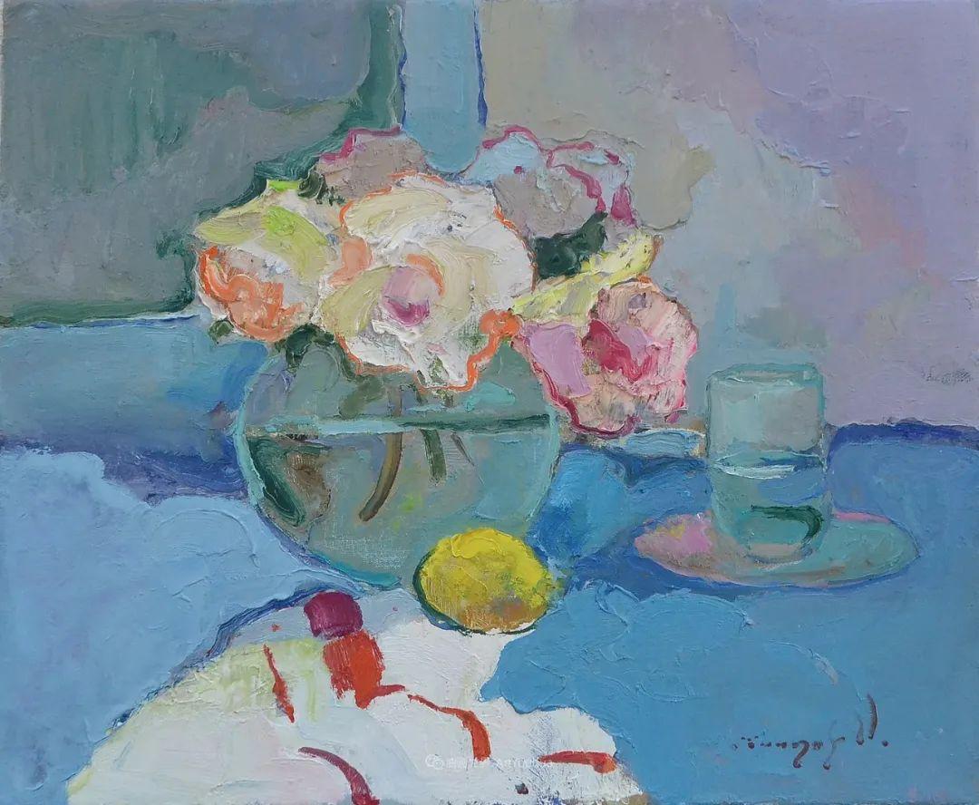 冷暖的色彩碰撞,迷人的静物与花卉作品!插图33