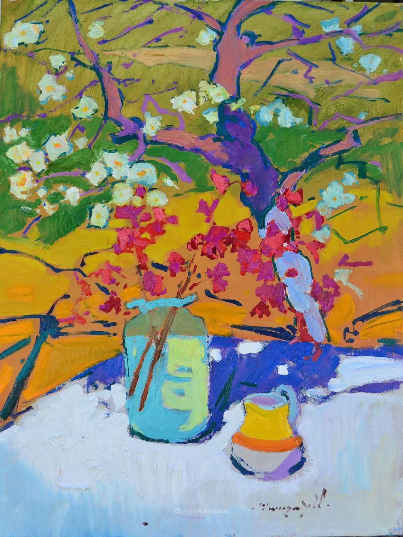 冷暖的色彩碰撞,迷人的静物与花卉作品!插图37