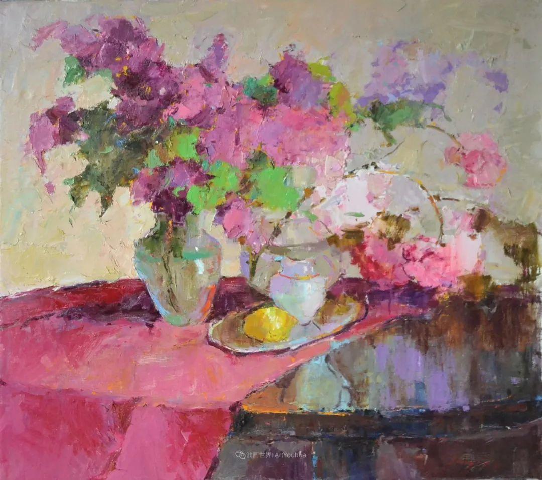 冷暖的色彩碰撞,迷人的静物与花卉作品!插图39
