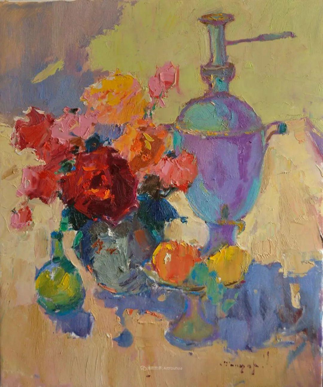 冷暖的色彩碰撞,迷人的静物与花卉作品!插图43
