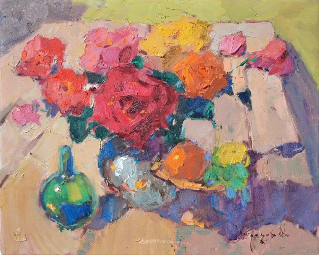 冷暖的色彩碰撞,迷人的静物与花卉作品!插图45