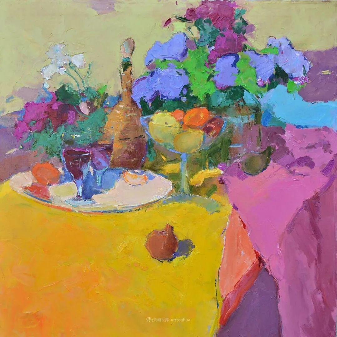 冷暖的色彩碰撞,迷人的静物与花卉作品!插图47