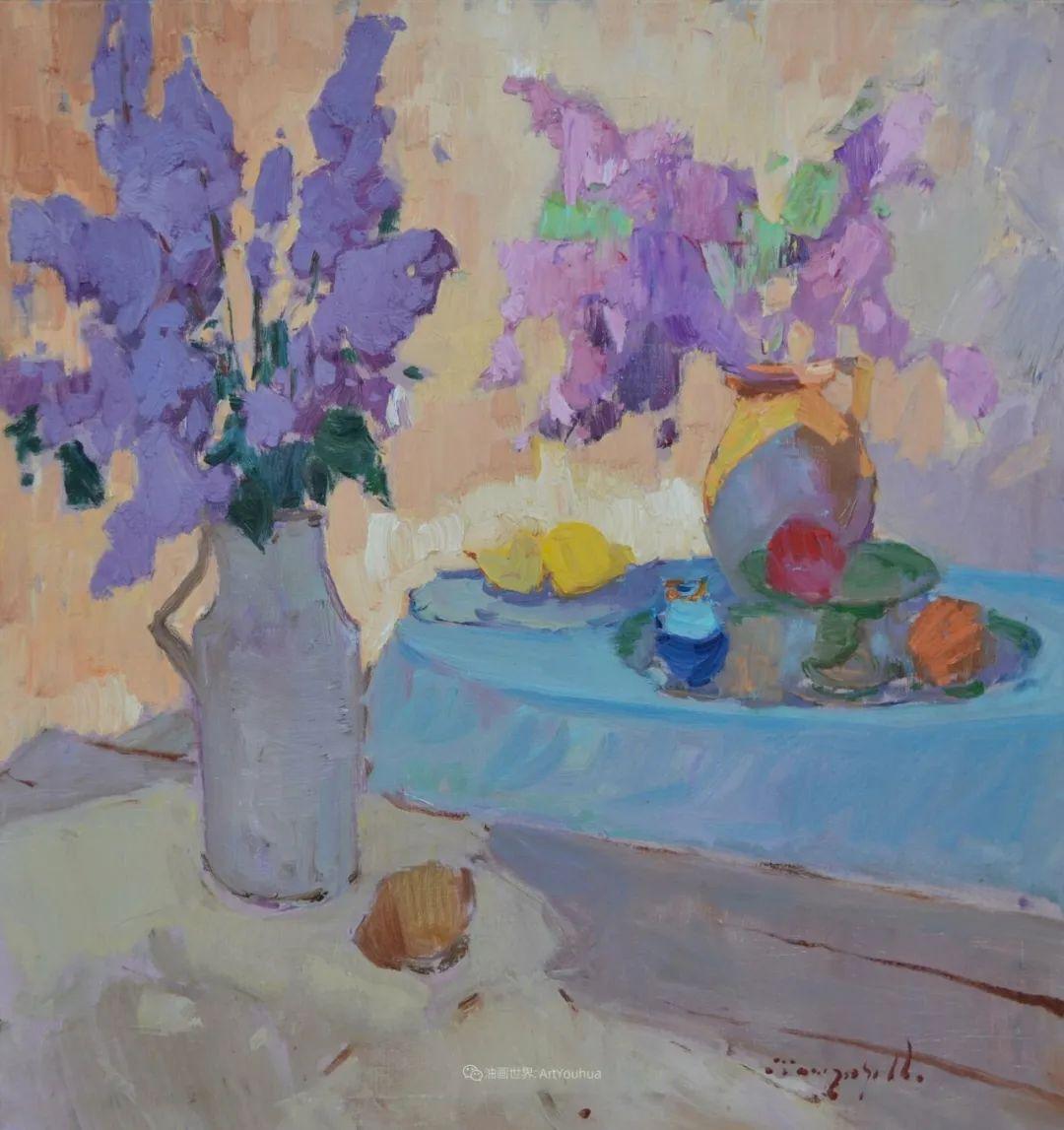 冷暖的色彩碰撞,迷人的静物与花卉作品!插图53