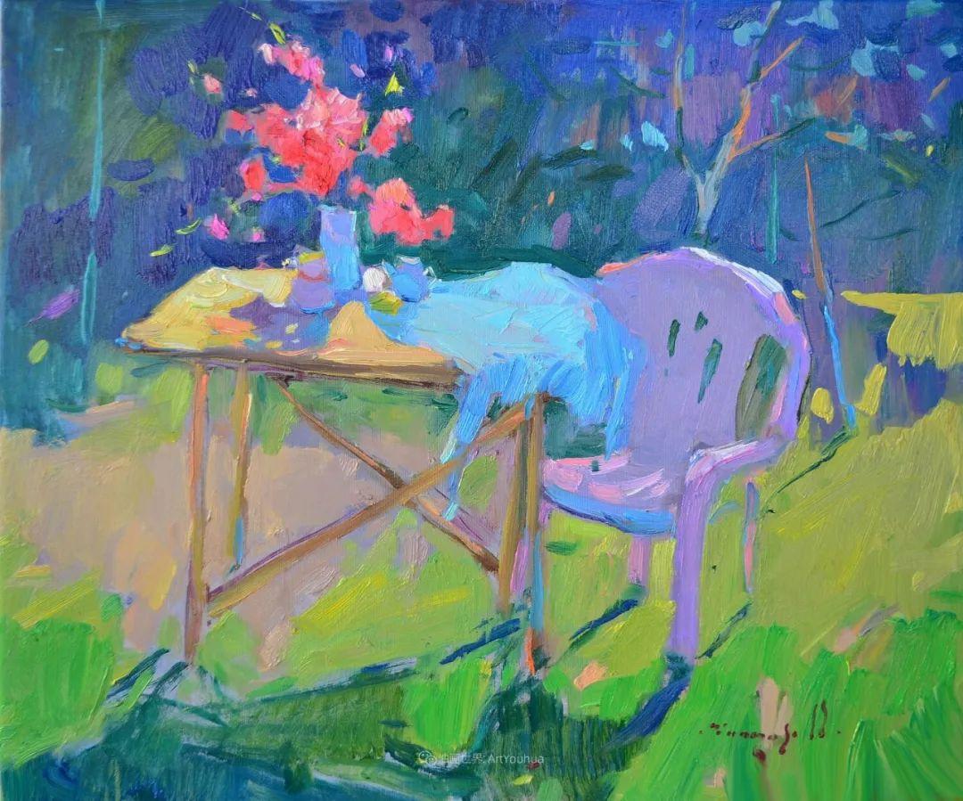 冷暖的色彩碰撞,迷人的静物与花卉作品!插图55