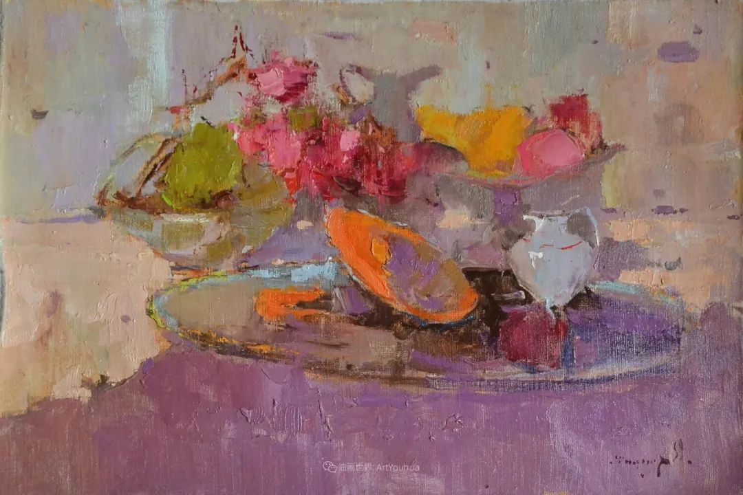 冷暖的色彩碰撞,迷人的静物与花卉作品!插图57