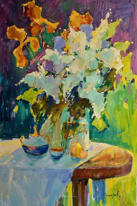 冷暖的色彩碰撞,迷人的静物与花卉作品!插图61