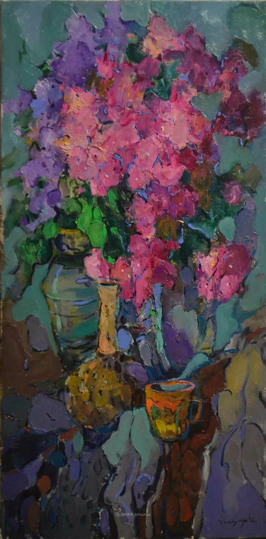 冷暖的色彩碰撞,迷人的静物与花卉作品!插图63