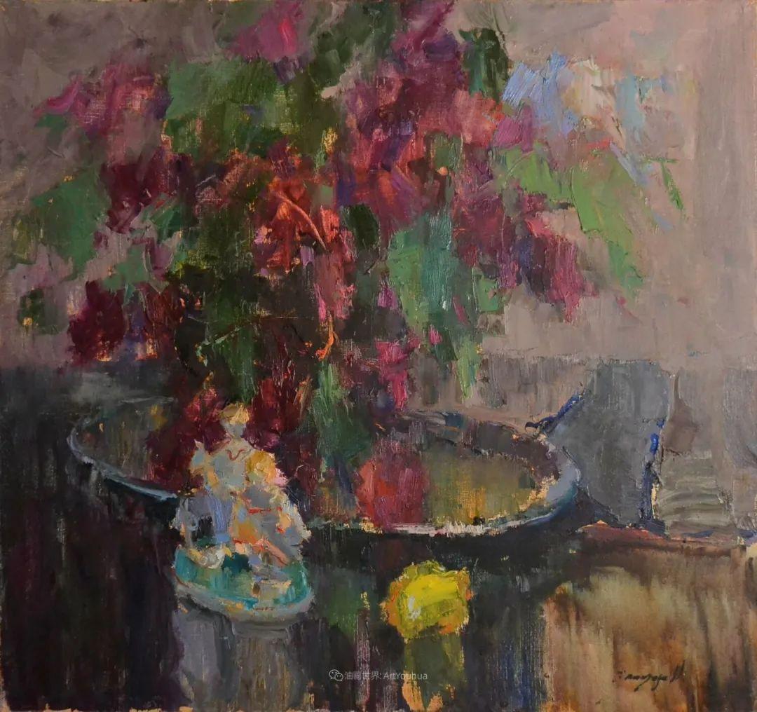 冷暖的色彩碰撞,迷人的静物与花卉作品!插图65