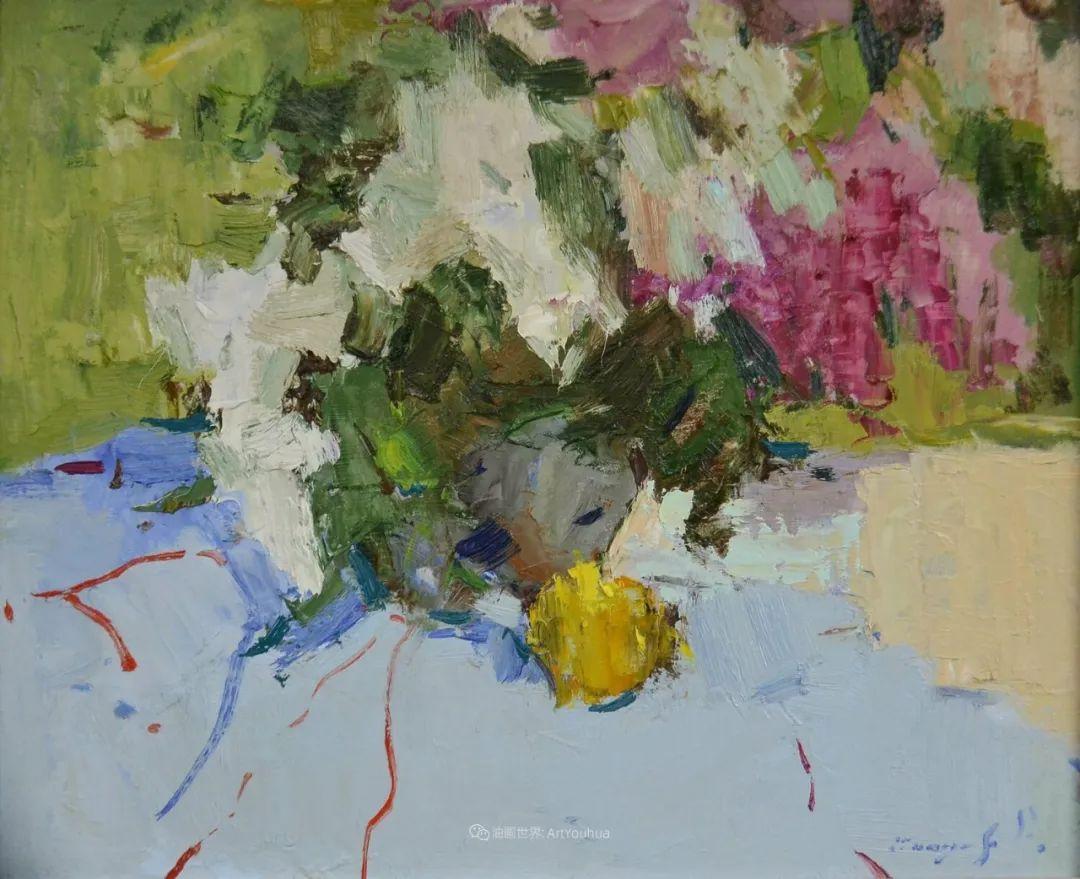 冷暖的色彩碰撞,迷人的静物与花卉作品!插图67
