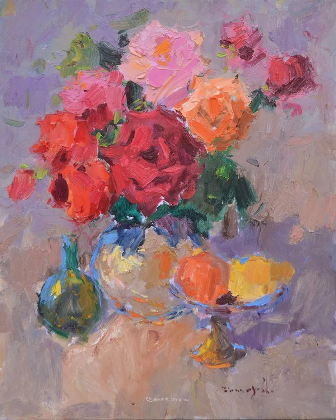 冷暖的色彩碰撞,迷人的静物与花卉作品!插图69