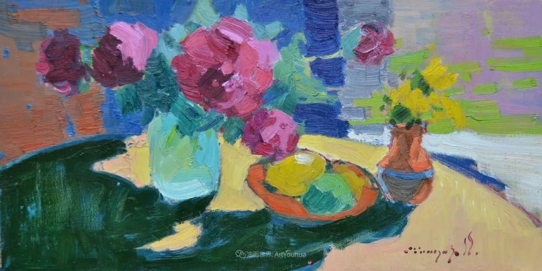 冷暖的色彩碰撞,迷人的静物与花卉作品!插图71
