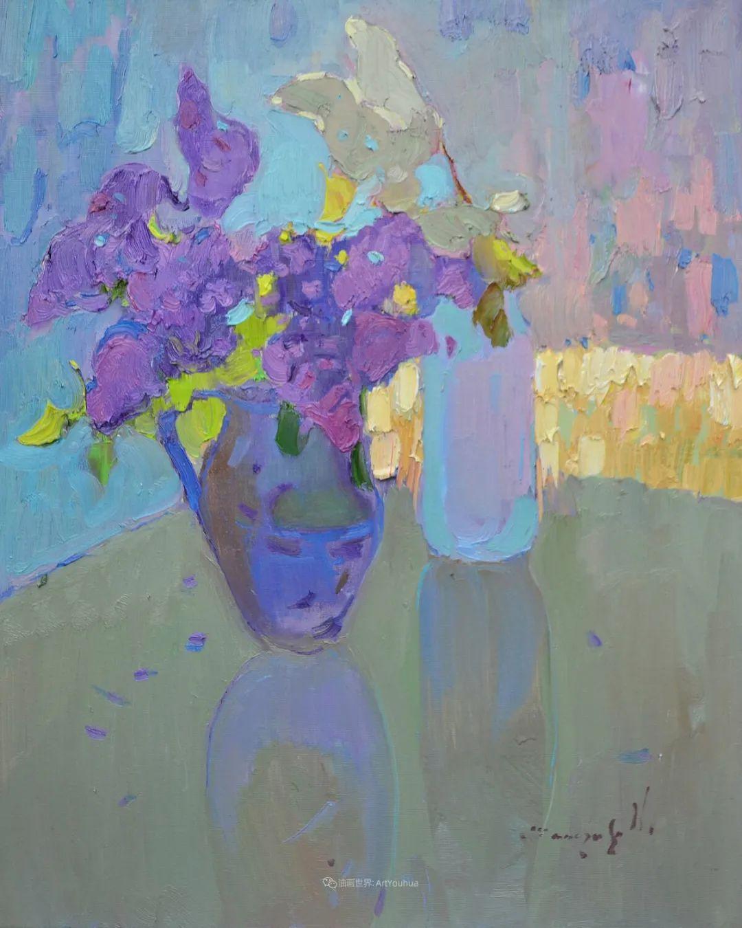 冷暖的色彩碰撞,迷人的静物与花卉作品!插图73