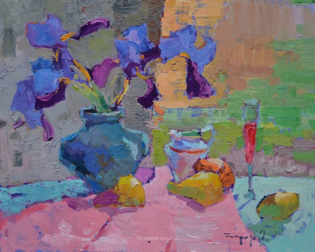 冷暖的色彩碰撞,迷人的静物与花卉作品!插图77