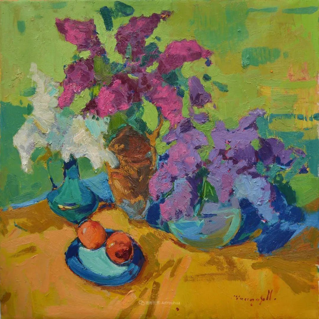 冷暖的色彩碰撞,迷人的静物与花卉作品!插图83