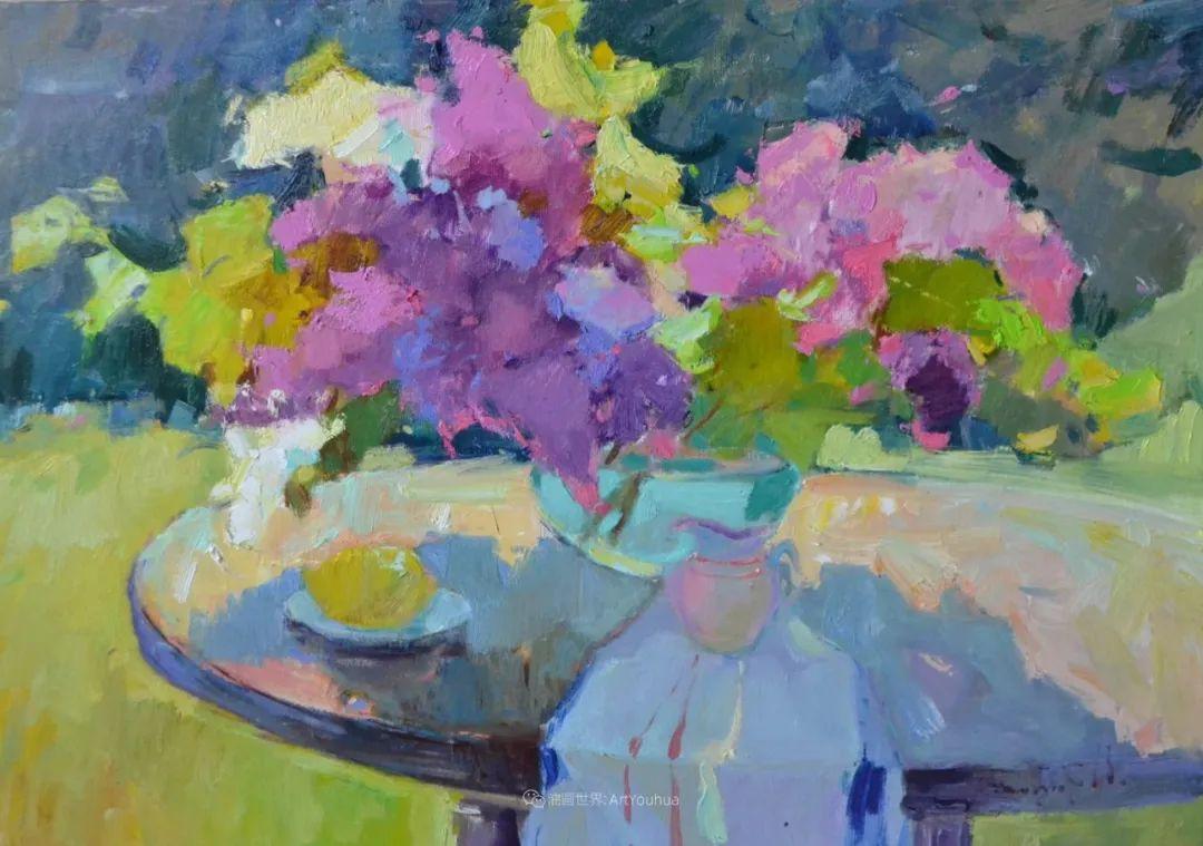 冷暖的色彩碰撞,迷人的静物与花卉作品!插图87