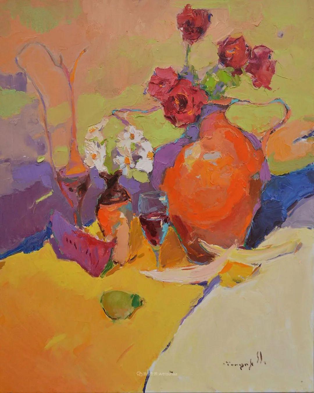 冷暖的色彩碰撞,迷人的静物与花卉作品!插图91
