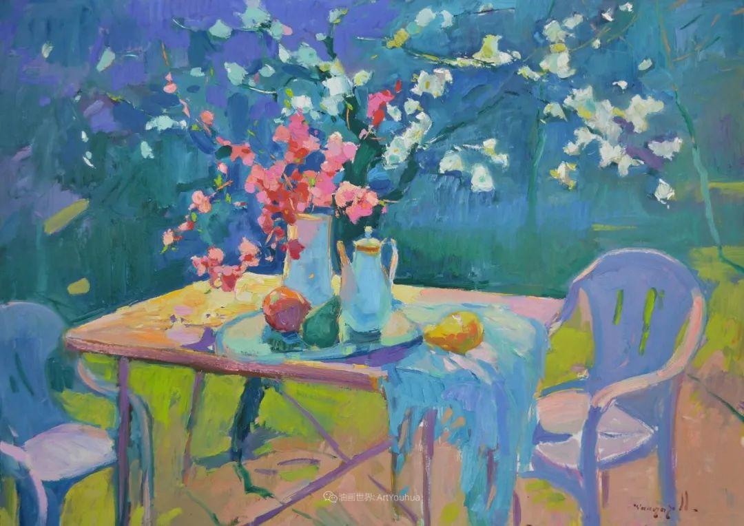 冷暖的色彩碰撞,迷人的静物与花卉作品!插图93