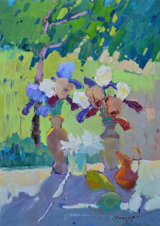 冷暖的色彩碰撞,迷人的静物与花卉作品!插图116