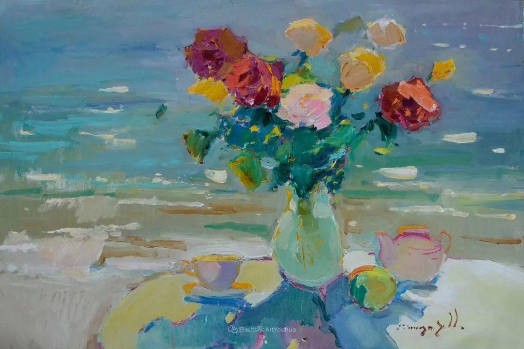 冷暖的色彩碰撞,迷人的静物与花卉作品!插图122