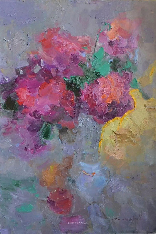 冷暖的色彩碰撞,迷人的静物与花卉作品!插图124