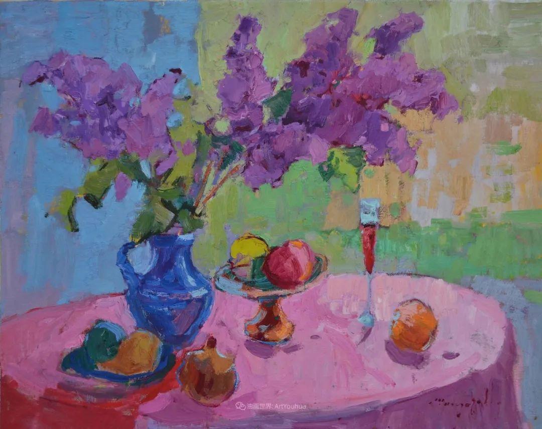 冷暖的色彩碰撞,迷人的静物与花卉作品!插图126