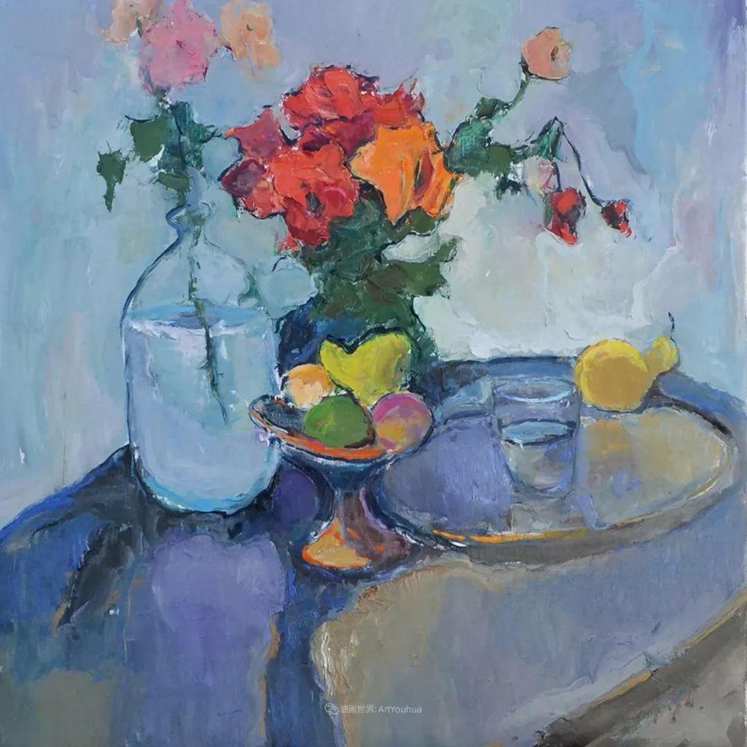 冷暖的色彩碰撞,迷人的静物与花卉作品!插图128