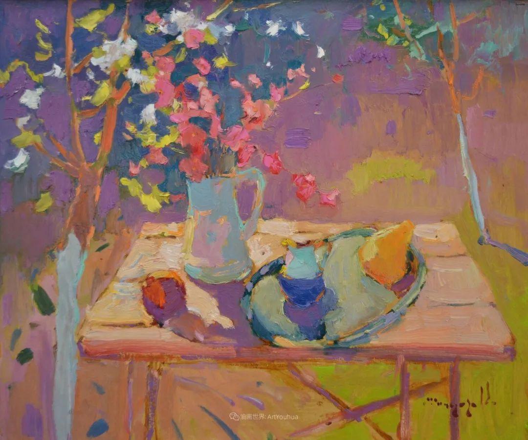 冷暖的色彩碰撞,迷人的静物与花卉作品!插图130