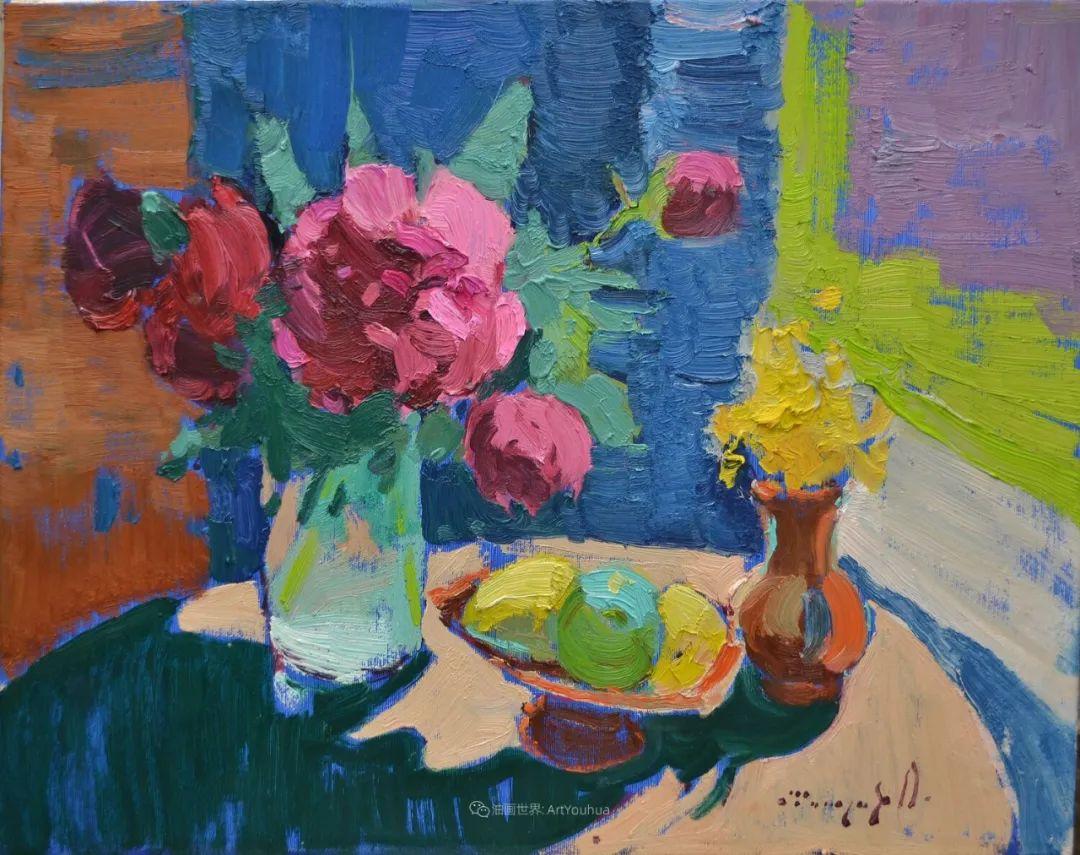 冷暖的色彩碰撞,迷人的静物与花卉作品!插图132