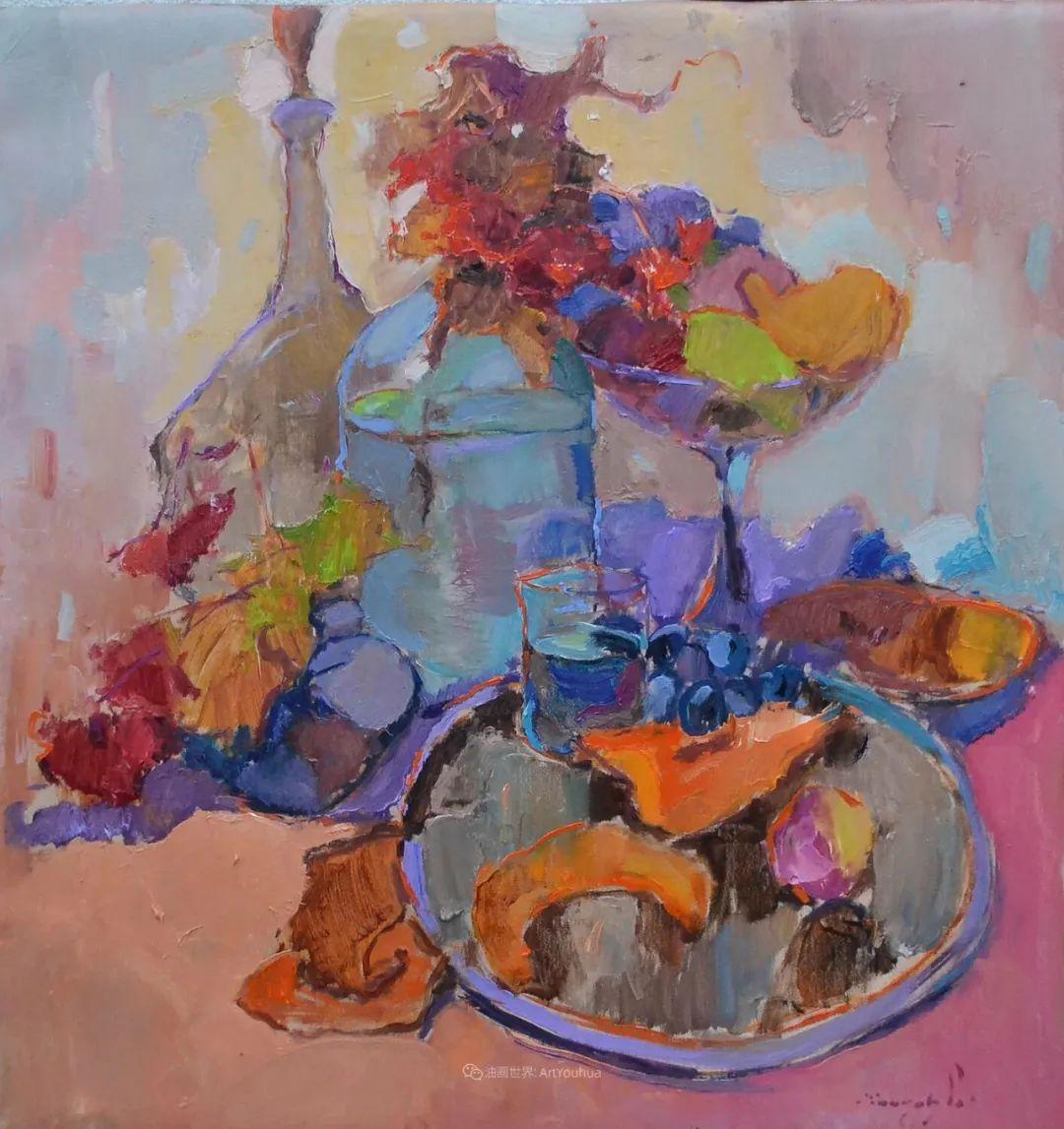 冷暖的色彩碰撞,迷人的静物与花卉作品!插图134