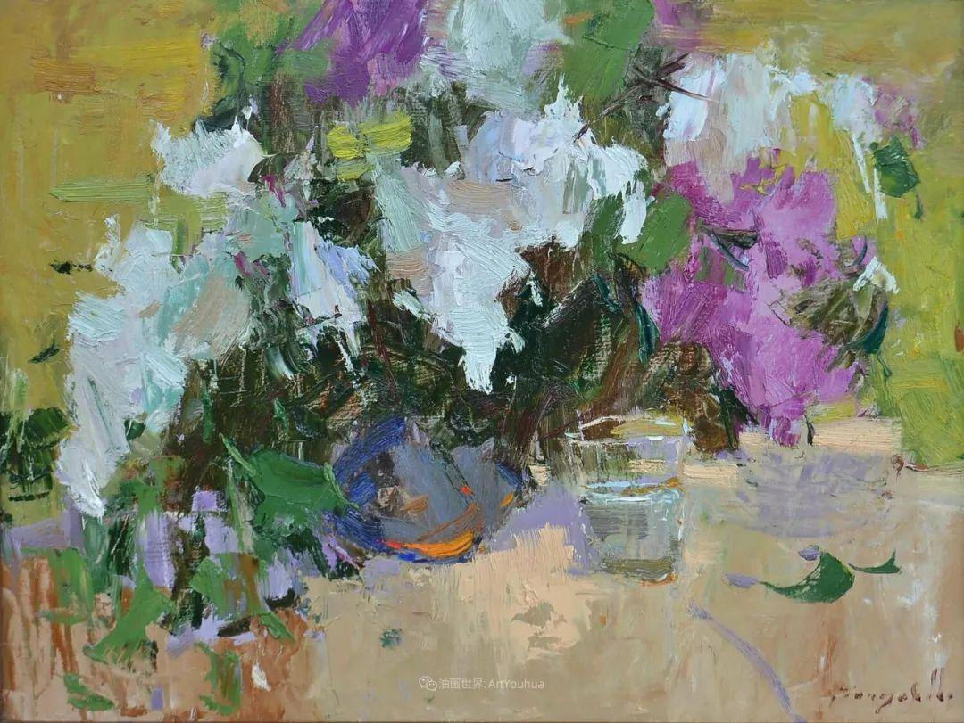 冷暖的色彩碰撞,迷人的静物与花卉作品!插图136