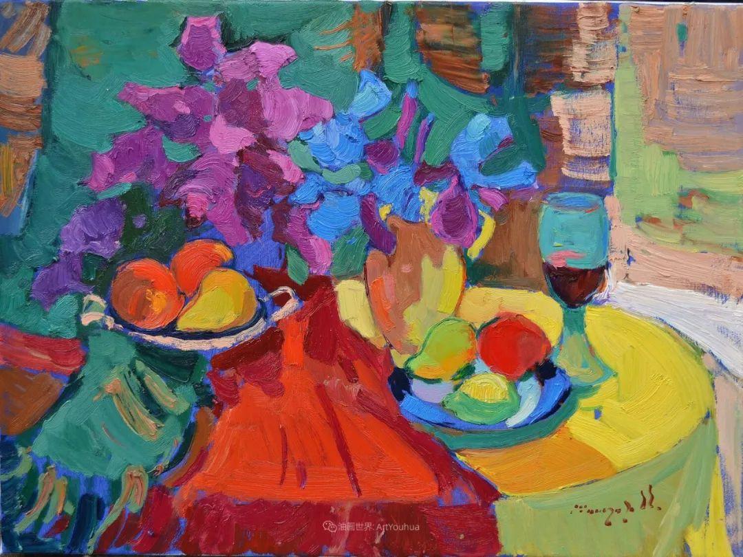 冷暖的色彩碰撞,迷人的静物与花卉作品!插图138