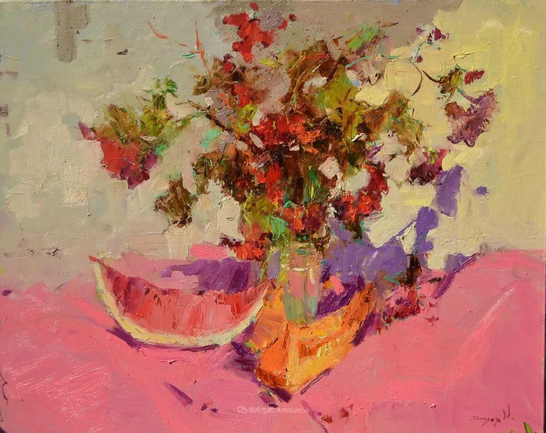 冷暖的色彩碰撞,迷人的静物与花卉作品!插图140