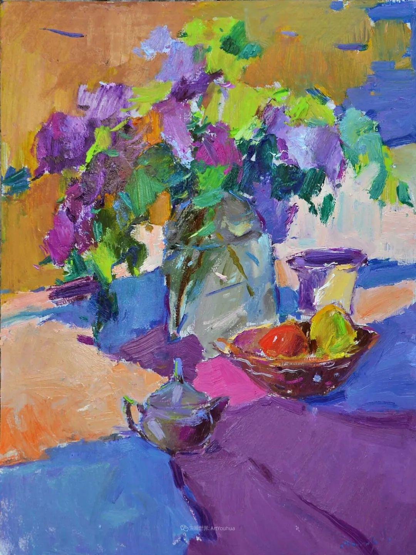 冷暖的色彩碰撞,迷人的静物与花卉作品!插图142